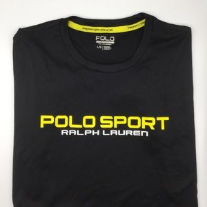 NWT Polo Sport Ralph Lauren Black T-shirt L/G